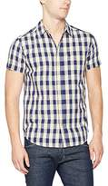 Wrangler Men's S/s 1 Pkt Indigo Casual Shirt