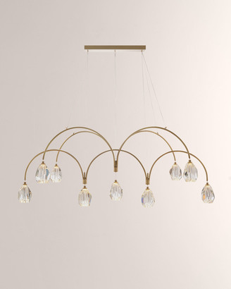 John-Richard Collection Faceted Cut Crystal 9-Light Chandelier