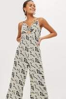 Tall cream floral jumpsuit