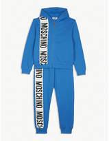 Moschino Logo stripe cotton tracksuit 4-14 years