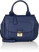 Trussardi WOMEN'S FLAP-FRONT SHOULDER BAG-BLUE