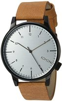 Komono 'Winston Regal' Quartz Stainless Steel and Leather Dress Watch, Color:Brown (Model: KOM-W2259)