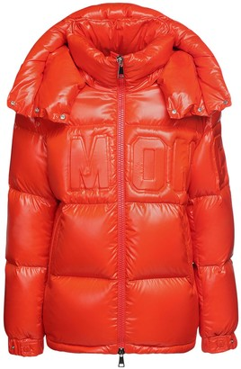 Moncler Guernic Hooded Nylon Laque Down Jacket
