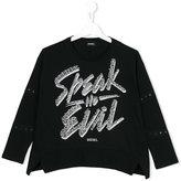 Diesel speak no evil T-shirt - kids - Cotton - 8 yrs