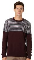 Red Herring Wine Reverse Striped Jumper