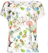 Yumi Floral Print Short Sleeve Top