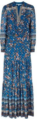 Veronica Beard Sama floral-print fil coupe chiffon maxi dress
