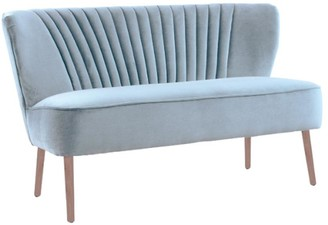 Darcy And Duke Coco Two Seater Sofa Blue Grey With Oak Legs