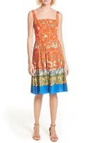 Tory Burch Women's Fernanda Border Print Dress