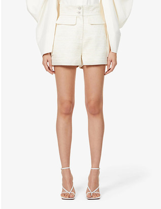 Lavish Alice High-rise boucle woven shorts