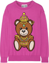 Moschino Intarsia Cotton Sweater - Pink