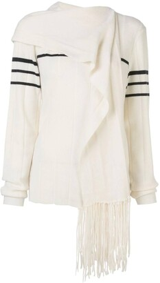 J.W.Anderson fringe scarf knitted sweater