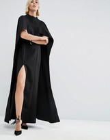 Asos Maxi Dress With Cape Detail