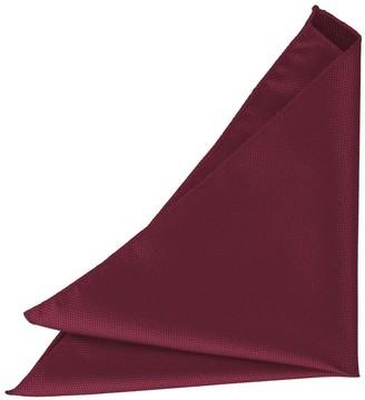 DQT Men Plain Solid Check Burgundy Pocket Square