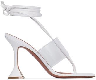 Amina Muaddi Zula 95mm leather sandals