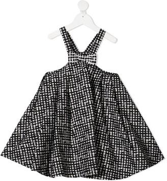 Simonetta Bow Detail Pinafore Dress