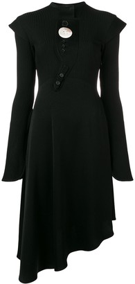 Ellery Asymmetric Flared Dress