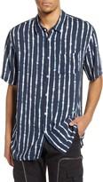 Zanerobe Stripe Short Sleeve Button-Up Shirt