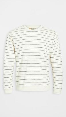 Mollusk Stripe Hemp Crew Neck Sweatshirt