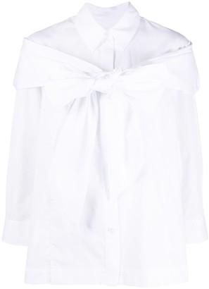 Simone Rocha Bow-Detail Long-Sleeve Blouse