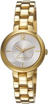 Esprit es106762003 28mm Gold Steel Bracelet & Case Mineral Women's Watch