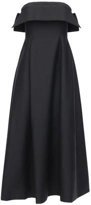 The Row Strapless Wool & Mohair Long Dress