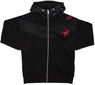 Diesel Cotton Zip-up Sweatshirt W/ Patch