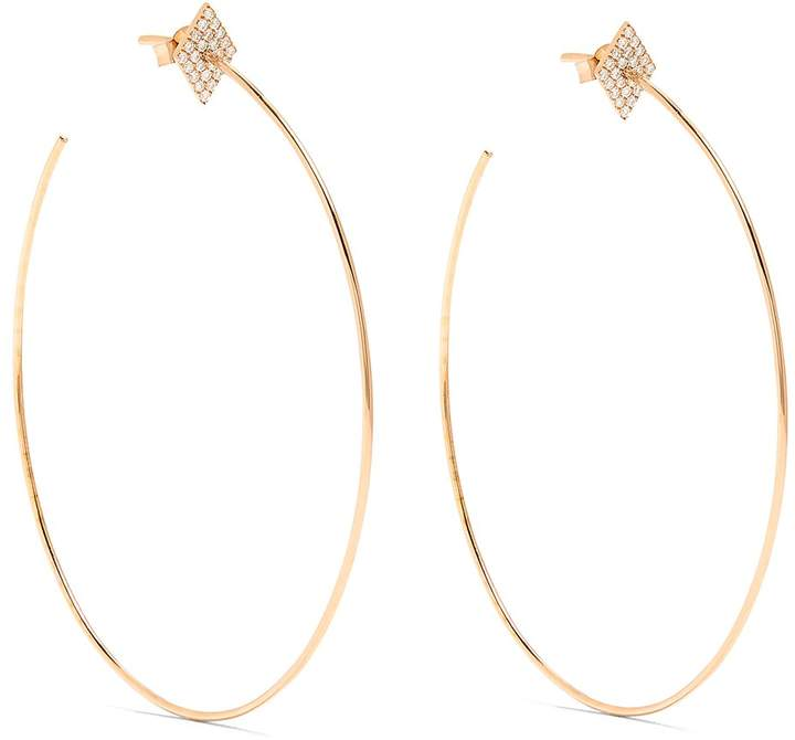 Diane Kordas Diamond & rose-gold earrings