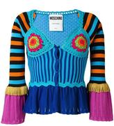 Moschino bell sleeve crochet panelled cardigan - women - Cotton - 42