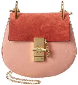 Chloé Drew Mini Leather & Suede Shoulder Bag