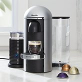 Crate & Barrel Nespresso ® Vertuo Deluxe Plus Silver Coffee Maker Bundle