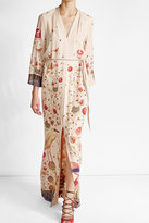Vilshenko Printed Silk Maxi Dress