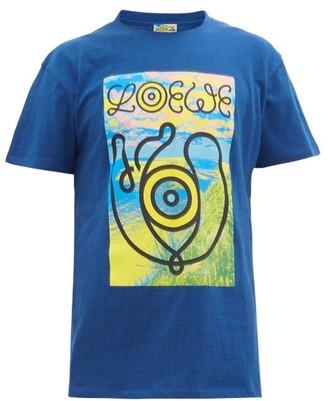 eye/LOEWE/nature Landscape-print Cotton-jersey T-shirt - Mens - Blue