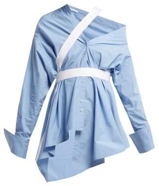 Palmer Harding Palmer//Harding Palmer//harding - Heathers Off The Shoulder Cotton Blend Shirt - Womens - Blue White