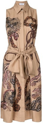 Salvatore Ferragamo Scarf print sleeveless dress