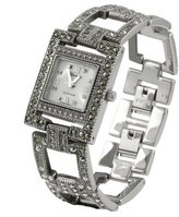 Silver Bin SilverBin Geneva Platinum Marcasite Antique Women's Watch