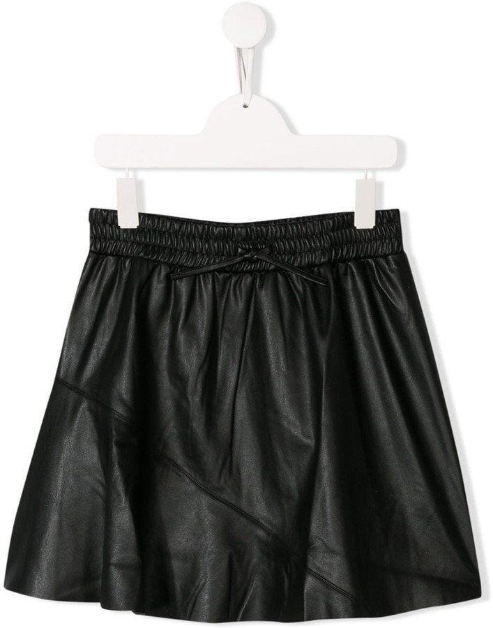 Zadig & Voltaire Kids TEEN drawstring paneled skirt