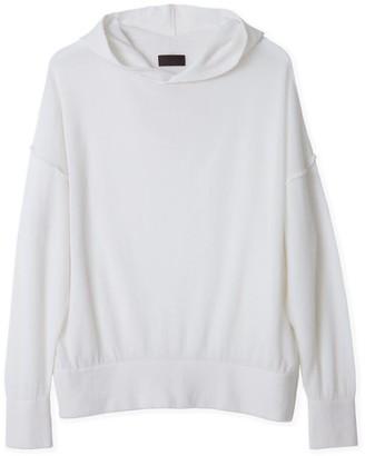 Oyuna Elin Luxury Ivory Cashmere & Cotton Hoodie