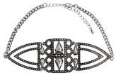 "Women's Fashion Choker - Silver/Clear (12"")"