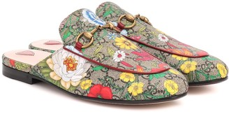 Gucci Princetown GG Flora slippers