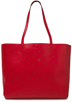 Stella McCartney Monogram Small Perforated Faux Leather Tote