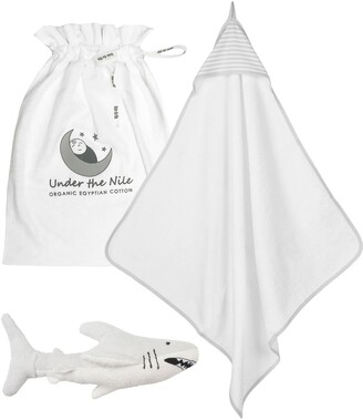 Under the Nile Organic Cotton Hooded Towel & Stuffed Toy Set