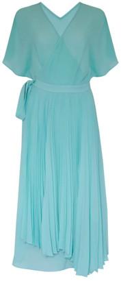 Jovonna London Ellington Dress Wrap Pleated Green - extra small