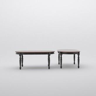 Laurel Foundry Modern Farmhouse Shelburne Extendable Solid Wood Dining Table Color: Merlot/Buttermilk
