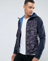 Armani Jeans Hooded Camo Jacket in Blue