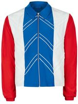 Topman DESIGN Red, White and Blue Harrington Jacket
