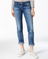 Hudson Riley Cuffed Straight-Leg Jeans
