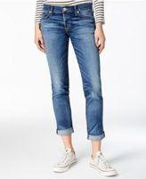 Hudson Riley Cuffed Straight-Leg Jeans