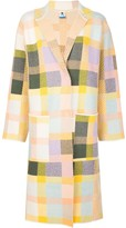 M Missoni patchwork single-breasted coat