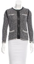 Rag & Bone Collarless Knit Jacket